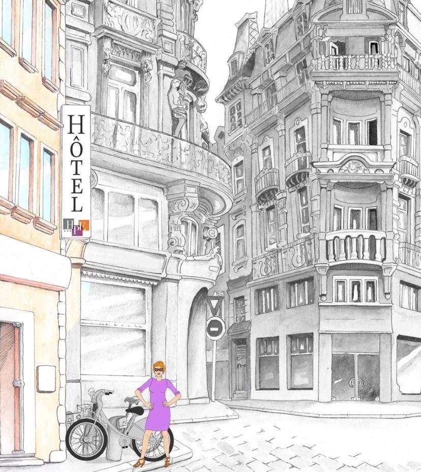 Hotel du Plat d'Etain - Drawing